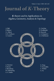 Journal of K-Theory Volume 12 - Issue 2 -