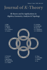 Journal of K-Theory Volume 13 - Issue 1 -