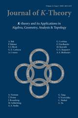 Journal of K-Theory Volume 14 - Issue 3 -