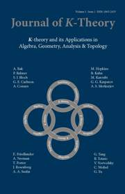 Journal of K-Theory Volume 1 - Issue 1 -