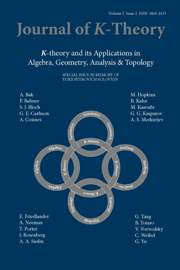 Journal of K-Theory Volume 2 - Issue 2 -  In Memory of Yurii Petrovich Solovyev October 8, 1944 – September 11, 2003