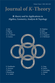 Journal of K-Theory Volume 3 - Issue 1 -