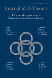 Journal of K-Theory Volume 3 - Issue 2 -
