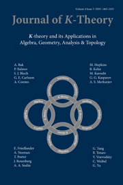 Journal of K-Theory Volume 4 - Issue 3 -