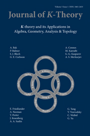 Journal of K-Theory Volume 5 - Issue 1 -