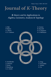 Journal of K-Theory Volume 5 - Issue 2 -