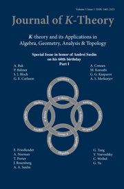 Journal of K-Theory Volume 5 - Issue 3 -