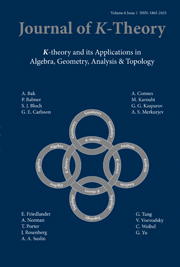 Journal of K-Theory Volume 6 - Issue 1 -