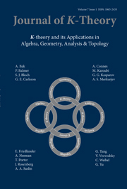 Journal of K-Theory Volume 7 - Issue 1 -
