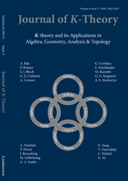 Journal of K-Theory Volume 8 - Issue 3 -