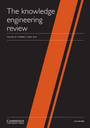 The Knowledge Engineering Review Volume 25 - Issue 2 -