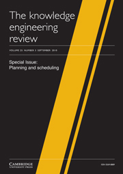 The Knowledge Engineering Review Volume 25 - Issue 3 -  Planning and scheduling