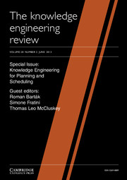 The Knowledge Engineering Review Volume 28 - Issue 2 -  Knowledge Engineering for Planning and Scheduling