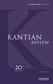 Kantian Review Volume 20 - Issue 2 -