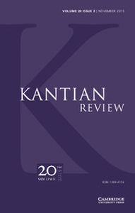 Kantian Review Volume 20 - Issue 3 -