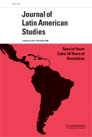 Journal of Latin American Studies Volume 40 - Issue 4 -  Cuba: 50 Years of Revolution