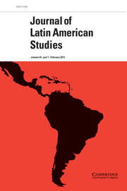 Journal of Latin American Studies Volume 44 - Issue 1 -
