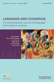 Language and Cognition Volume 10 - Issue 1 -