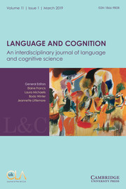 Language and Cognition Volume 11 - Issue 1 -