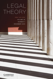 Legal Theory Volume 26 - Issue 4 -