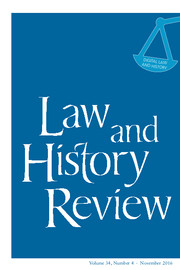 Law and History Review Volume 34 - Issue 4 -  Digital Law and History