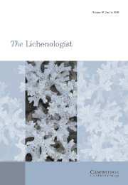 The Lichenologist Volume 37 - Issue 4 -