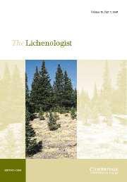 The Lichenologist Volume 38 - Issue 5 -