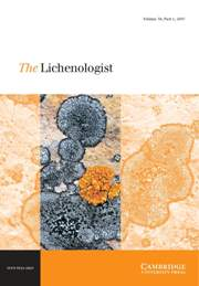 The Lichenologist Volume 39 - Issue 1 -