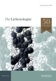 The Lichenologist Volume 40 - Issue 1 -