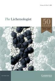 The Lichenologist Volume 40 - Issue 5 -