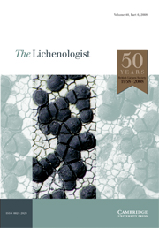 The Lichenologist Volume 40 - Issue 6 -