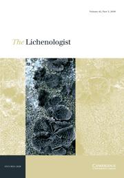 The Lichenologist Volume 42 - Issue 5 -