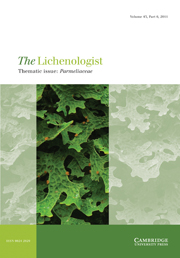 The Lichenologist Volume 43 - Issue 6 -