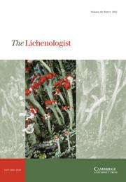 The Lichenologist Volume 44 - Issue 1 -