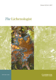 The Lichenologist Volume 49 - Issue 2 -