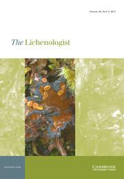 The Lichenologist Volume 49 - Issue 5 -