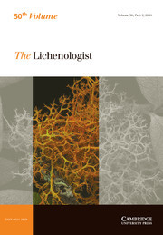 The Lichenologist Volume 50 - Issue 2 -
