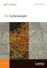 The Lichenologist Volume 50 - Issue 4 -