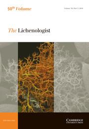 The Lichenologist Volume 50 - Issue 5 -