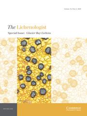 The Lichenologist Volume 52 - Issue 2 -