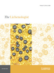 The Lichenologist Volume 52 - Issue 6 -