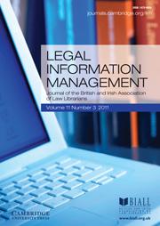 Legal Information Management Volume 11 - Issue 3 -