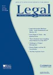 Legal Information Management Volume 6 - Issue 4 -