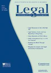 Legal Information Management Volume 7 - Issue 2 -