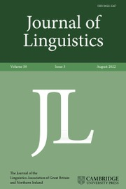 Journal of Linguistics