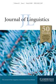 Journal of Linguistics Volume 45 - Issue 1 -