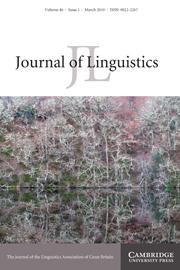 Journal of Linguistics Volume 46 - Issue 1 -