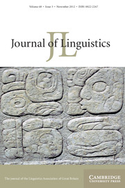 Journal of Linguistics Volume 48 - Issue 3 -