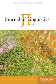 Journal of Linguistics Volume 49 - Issue 1 -