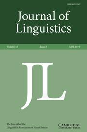 Journal of Linguistics Volume 55 - Issue 2 -